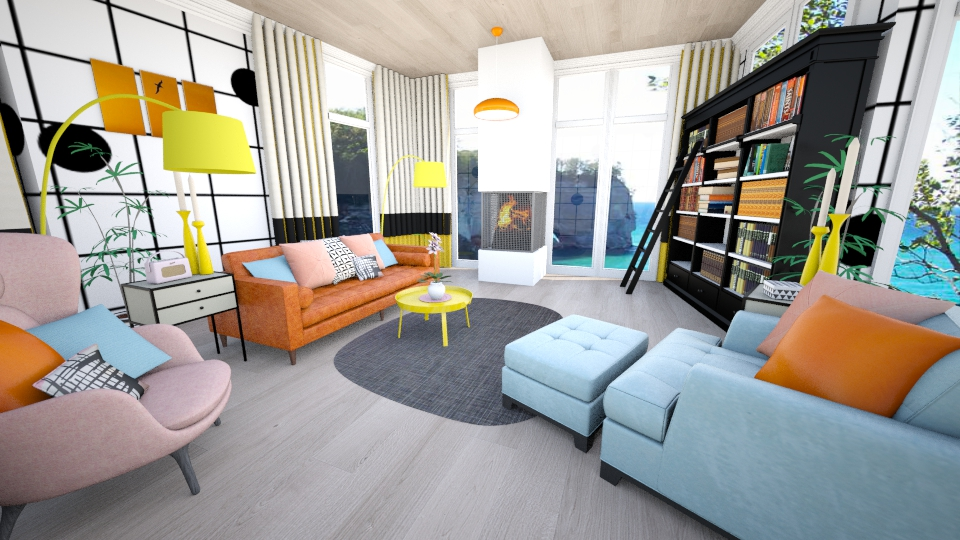 On the grid design living room by jrem224 for Grid room