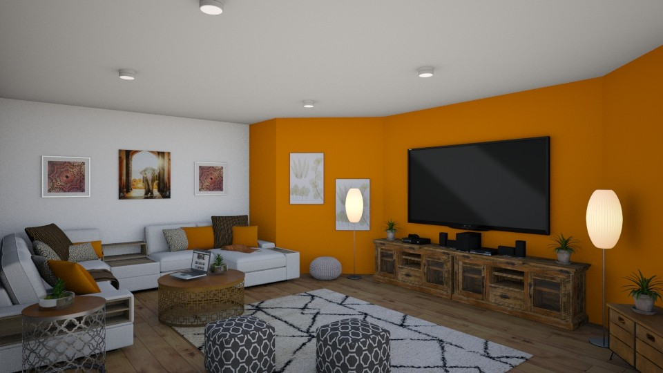 Downstairs TV Room - Classic - Living room - by millerfam