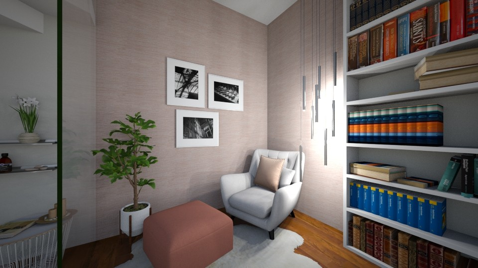 delicatepink and brown - Living room - by Eszter Potor