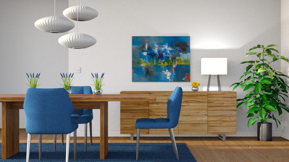 Cobalt - Dining room - by GraceKathryn