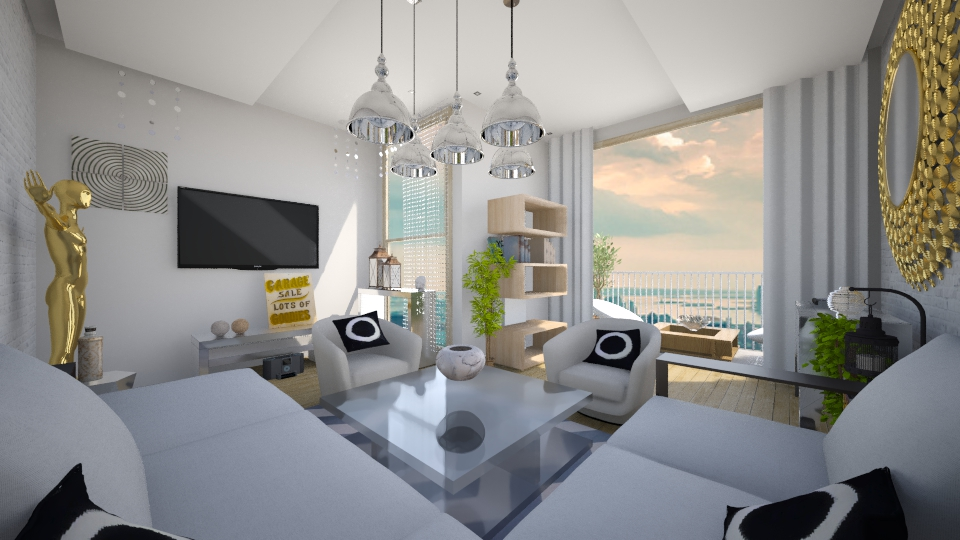 modern house  - Living room - by sofiashevchenko