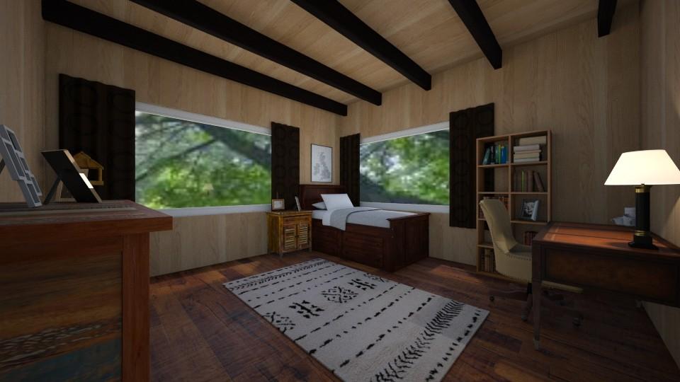 Curse - Rustic - Bedroom - by RhonaFiles