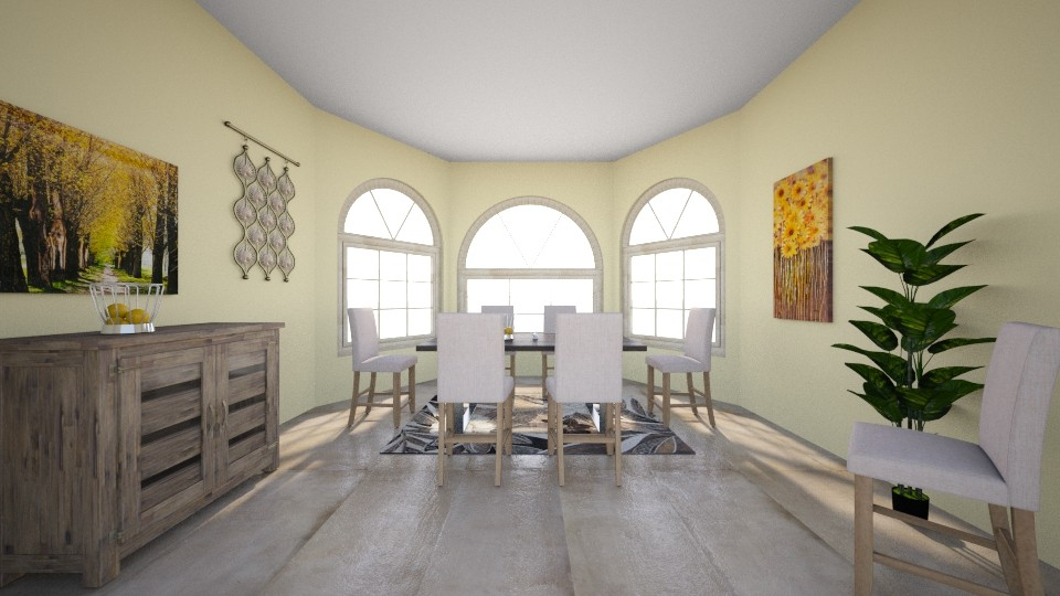 Sunny Dining Room - Country - Dining room - by millerfam