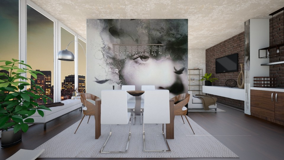 FOCUS _credit artbysih - Modern - Dining room - by Georgina Holly