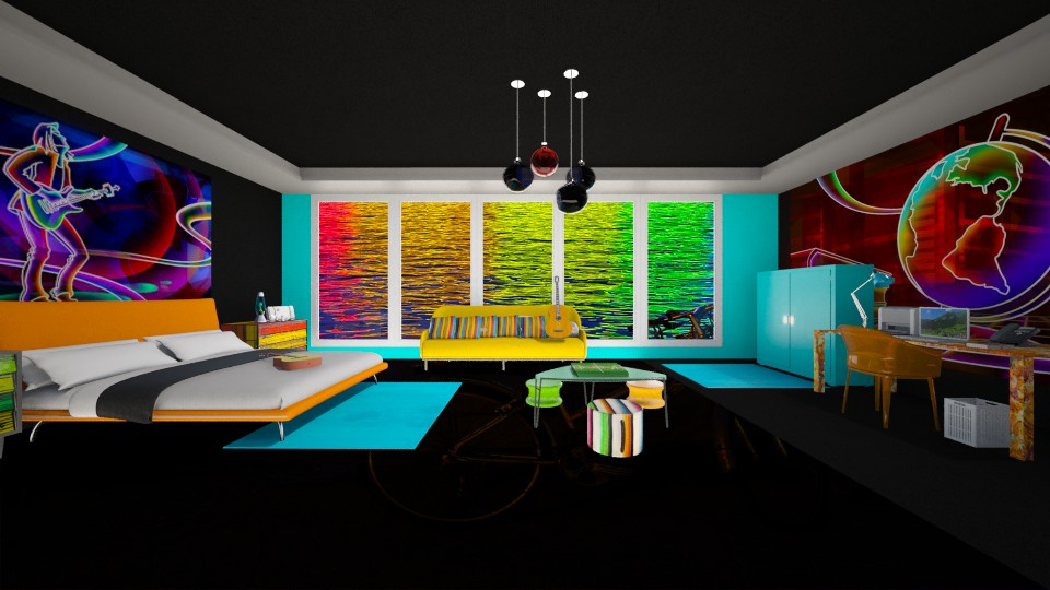 Neon bedroom - by Themis Aline Calcavecchia