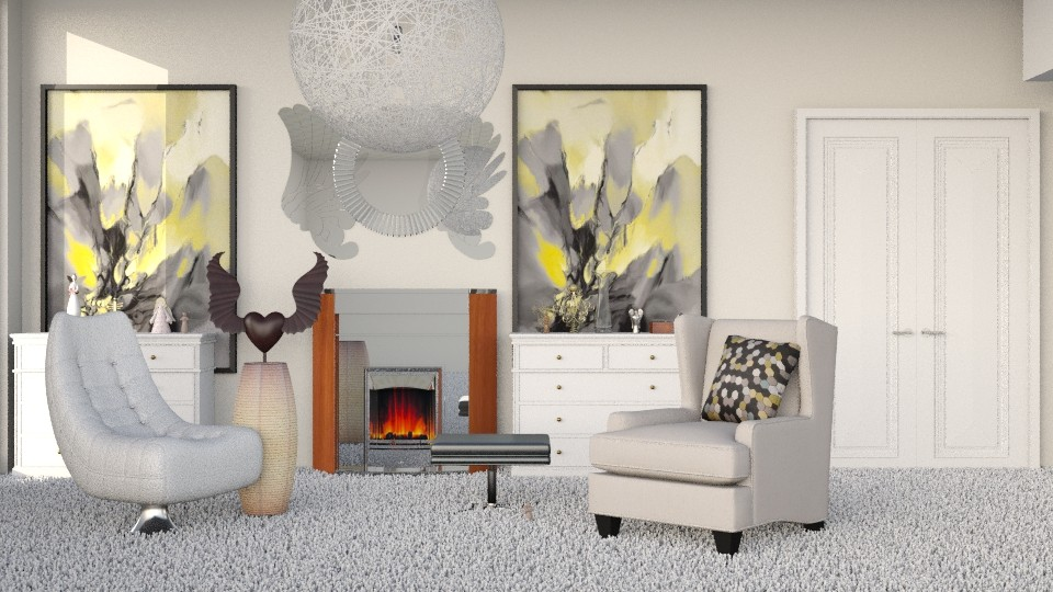 Wings of an Angel - Modern - Living room - by InteriorDesigner111