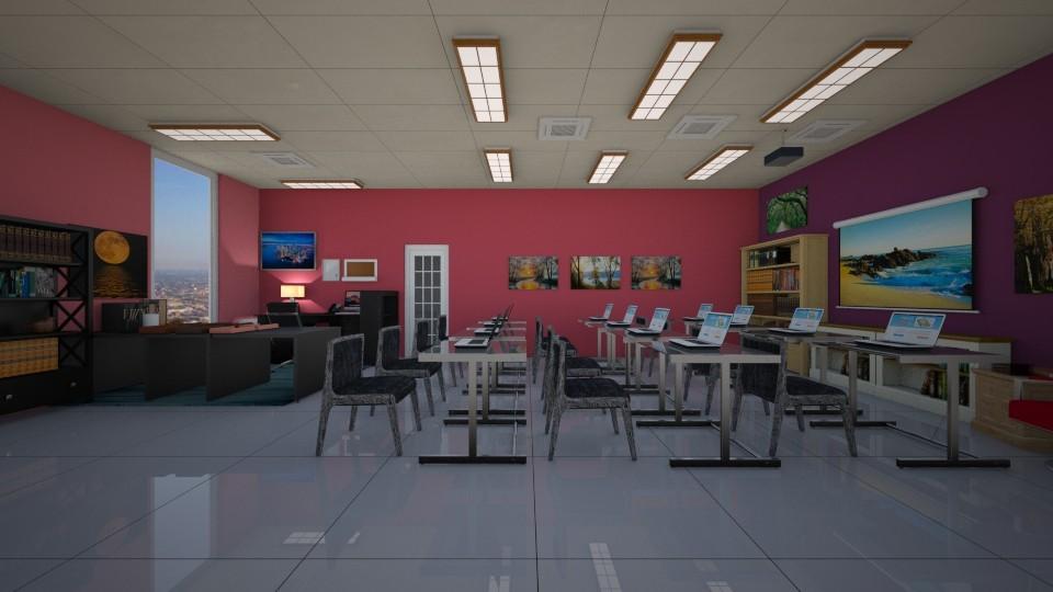 classroom2 - by The cartoon fan