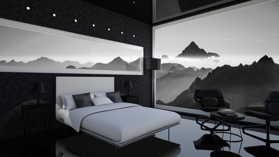 BW Mountain Bedroom - by agnesk