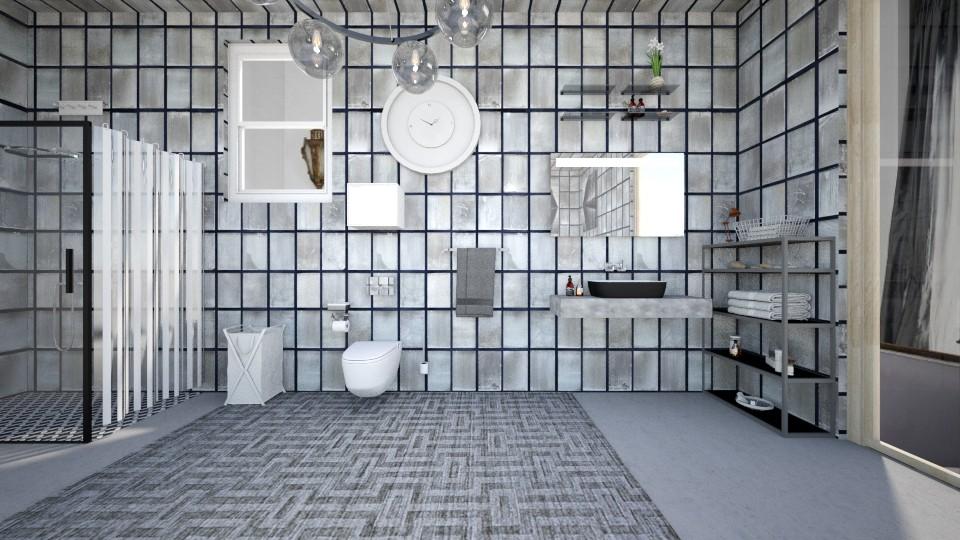 all is grey  - Modern - Bathroom - by zayneb_17