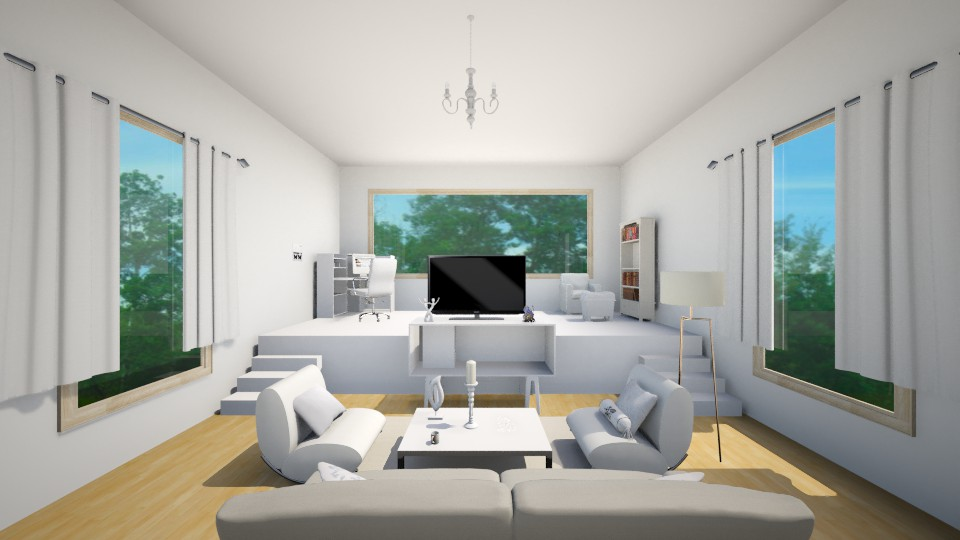 White Living room - Living room - by Jessica Lyn