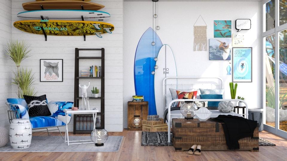 Surfer - Bedroom - by aniachoynowska