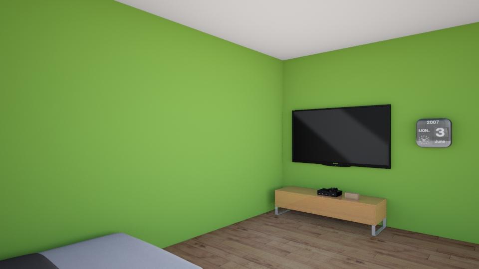 Patio w room  - Modern - Bedroom - by lemonheadx