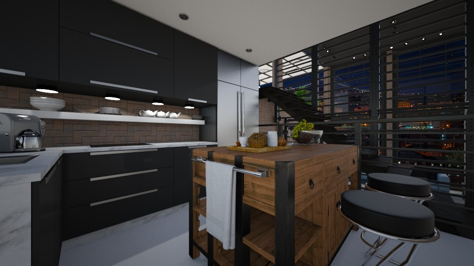 Kitchen in a 3 level loft - by FYI