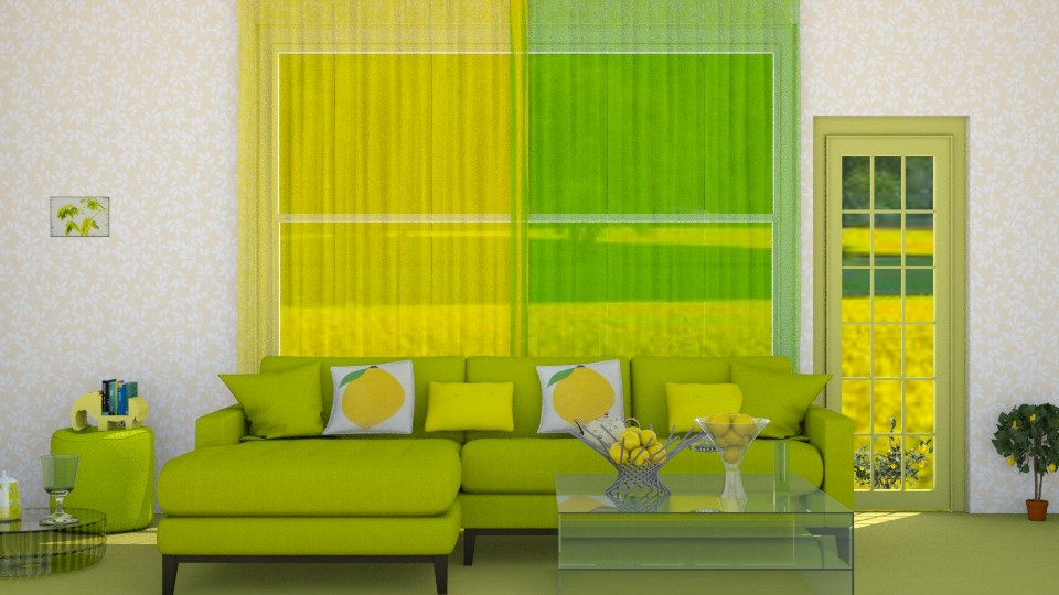 Lemons and Limes - Modern - Living room - by InteriorDesigner111