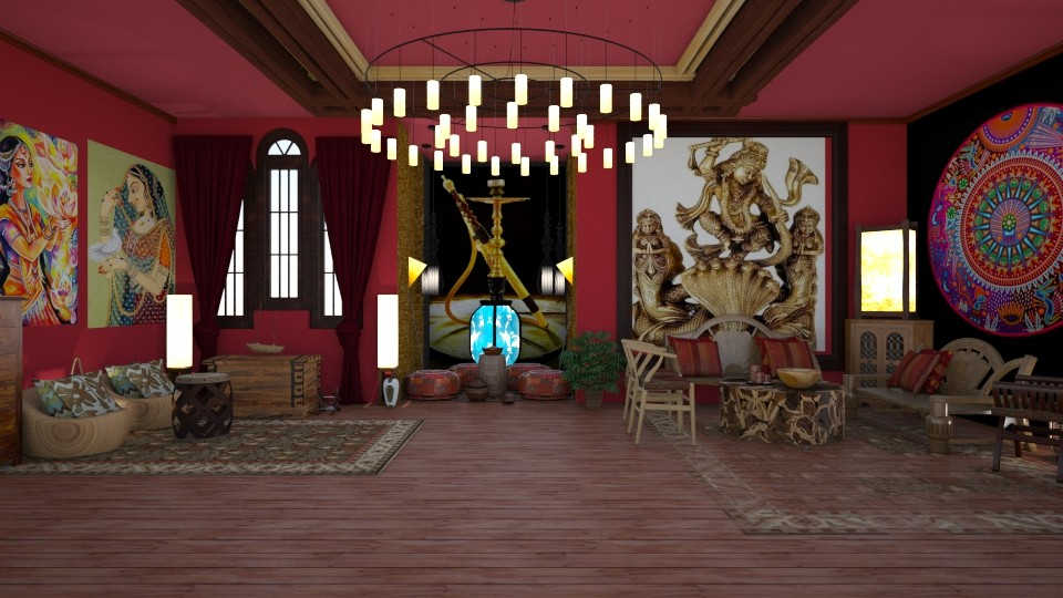 Indian home - Living room - by nat mi