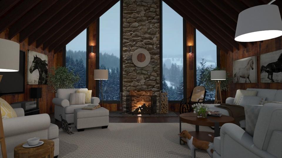 Rocky Mountain High 2 - Living room - by GraceKathryn
