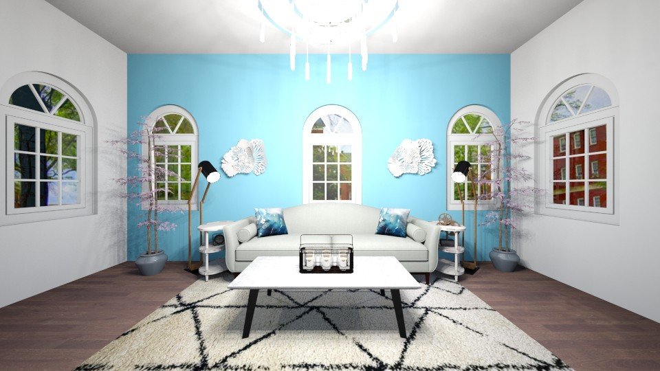 chic living room - by chloe_mccarty