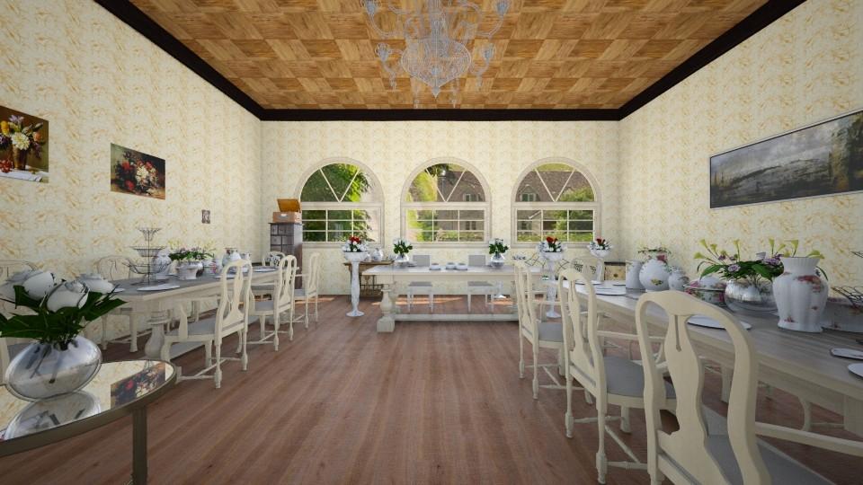 Antique_Wedding_Room - Glamour - Living room - by linnda123222