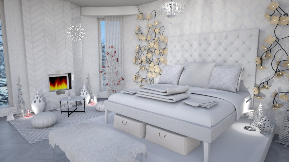 white white holidays - Bedroom - by Moonpearl