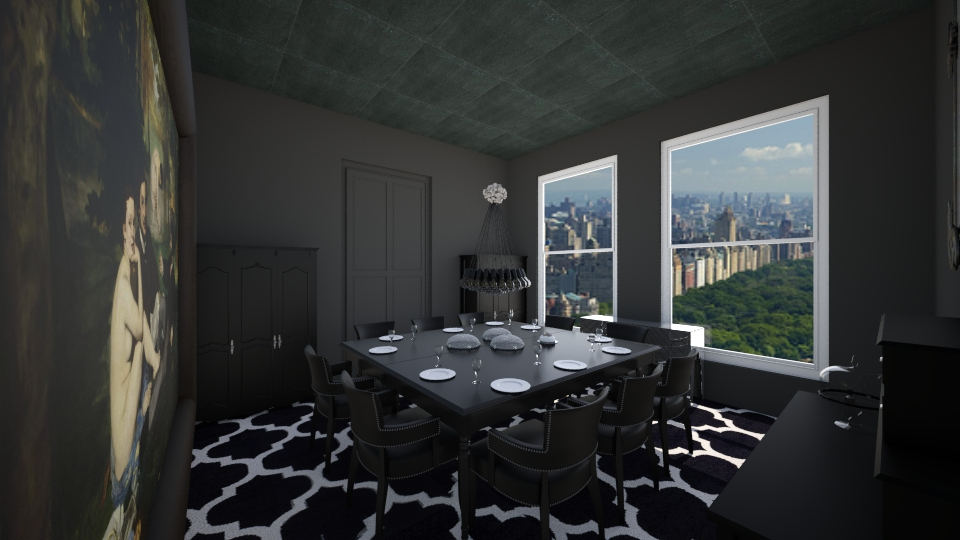 All Black V2 Dining Room By Tcoll3