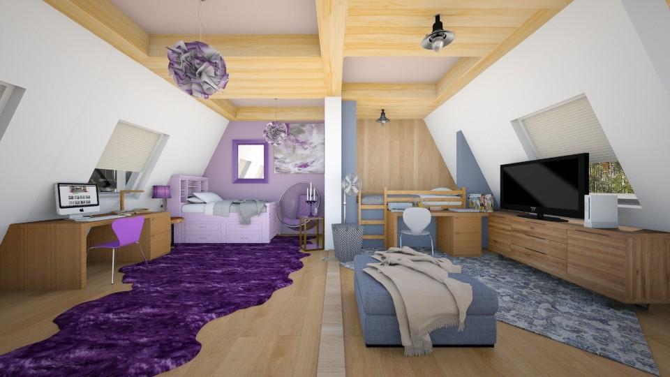 Shared Attic Bedroom - Bedroom - by VermontianRain