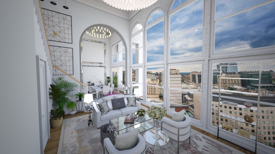 Glam Apartment - Glamour - Living room - by Sally Anne Design