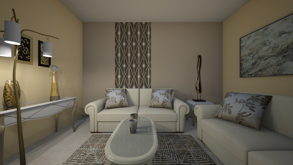 Touch of gold - Living room - by Ana Angela