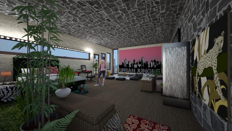 Urban jungle bedroom - Modern - Bedroom - by PAPIdesigns