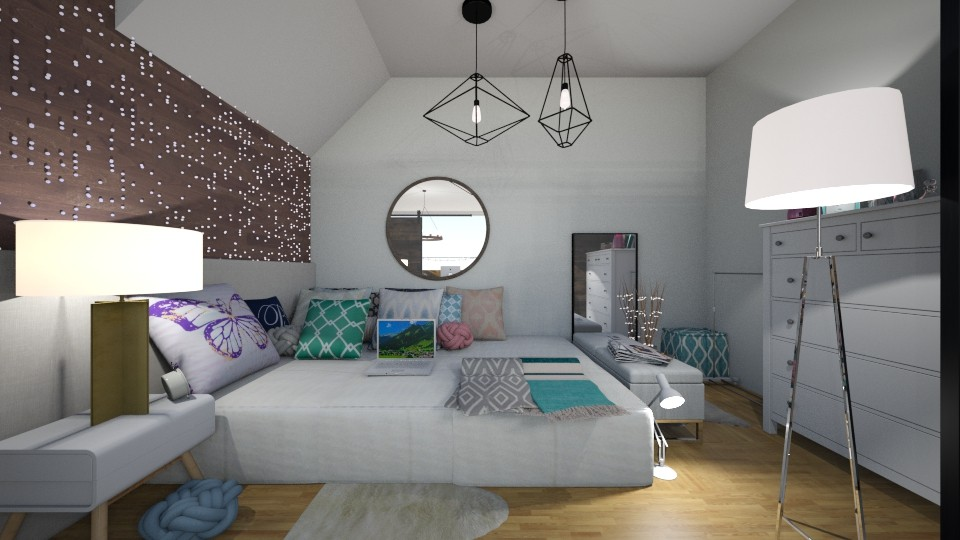 dream apart bedroom - Bedroom - by carmenouloulou