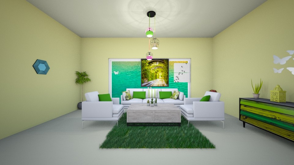 lime - Living room - by Deni star