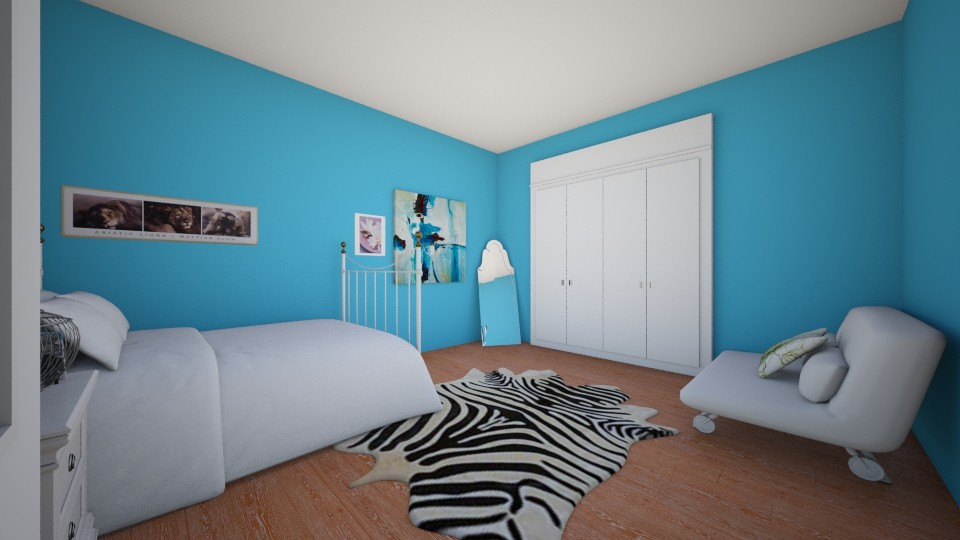 White n Blue Bedroom - Bedroom - by Winner168