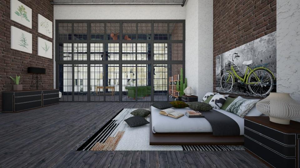 loft3 - Bedroom - by majlena95