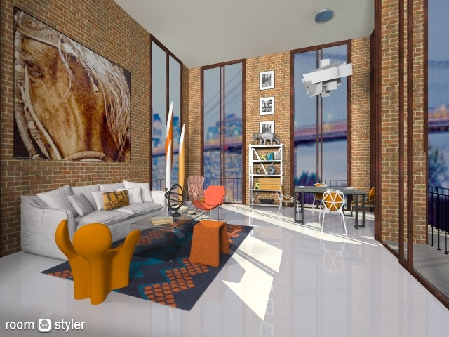 Orange11 - Modern - Living room - by AlSudairy S