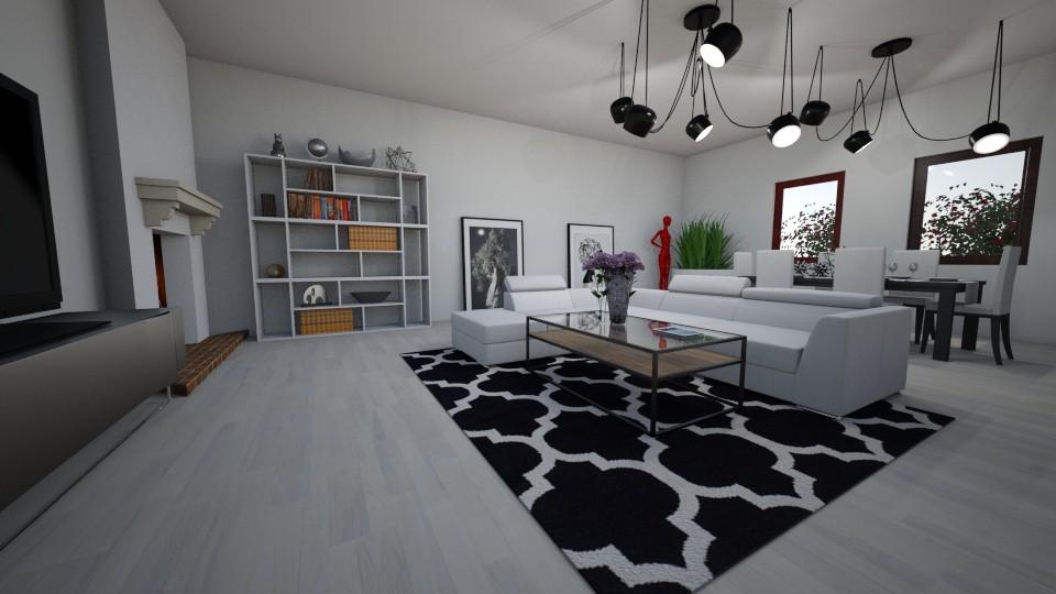 modern living room - Modern - Living room - by agatunia12