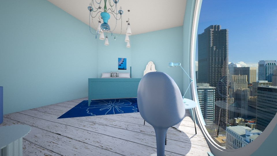 Blue bedroom - Bedroom - by Molly_girl