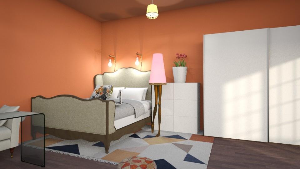 Kleine slaapkamer - Bedroom - by kolibrie_designer