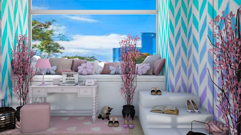 PINK GIRLY ROOM - by aggelidi 12312