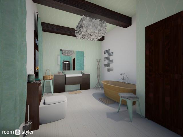 Mint - Bathroom - by CJ and JA