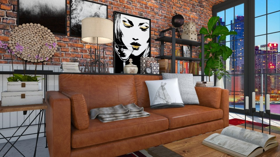Industrial Living - Living room - by meggle