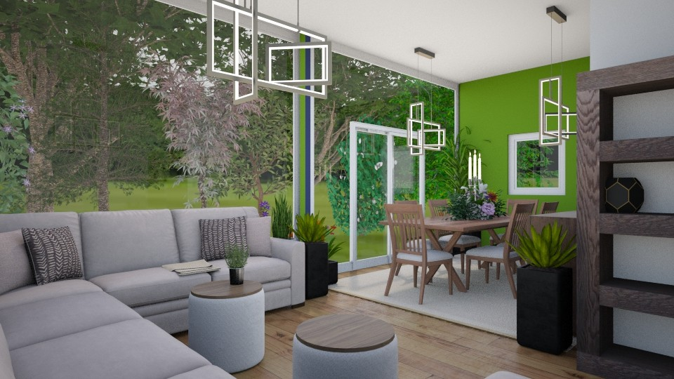 Wild Living Room - Country - Living room - by Isaacarchitect