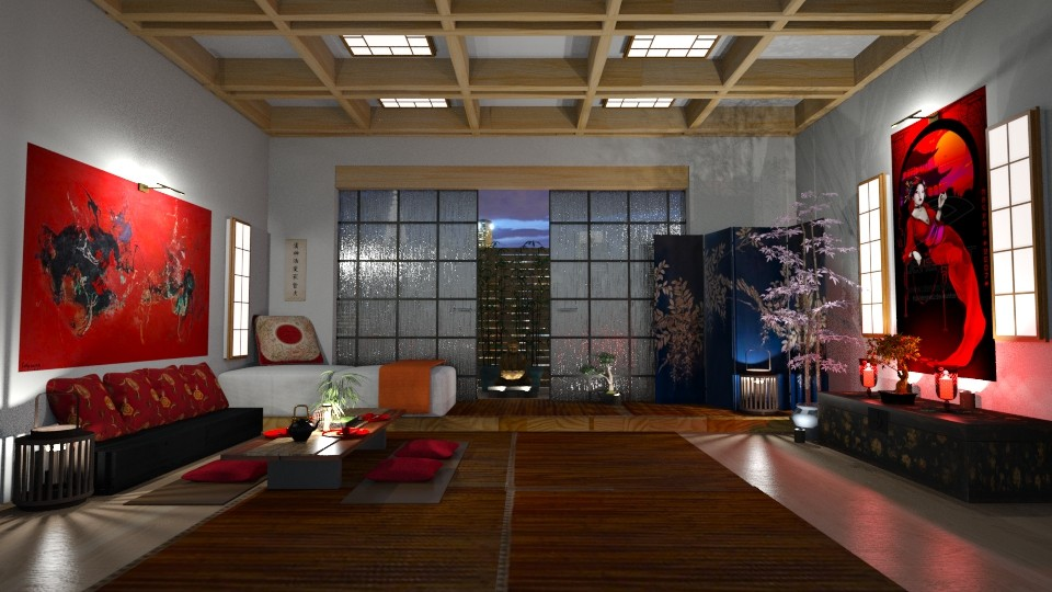 Japanese Art Home - by  krc60