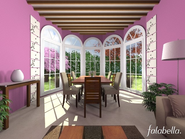 Purple Pleasure - Dining room - by CassW