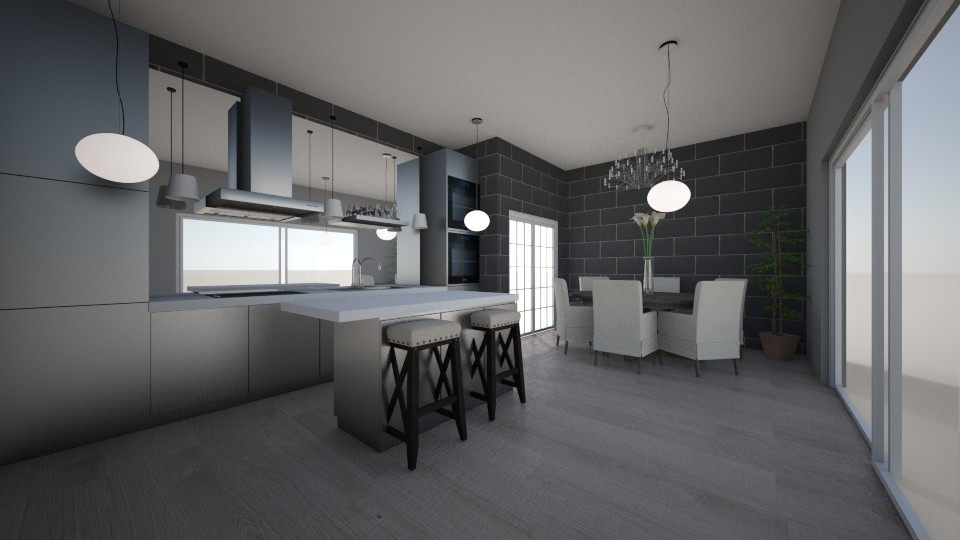 kitchen and dining room - by tinyhan