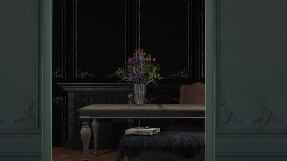 dark molding - Classic - Dining room - by marinmarin