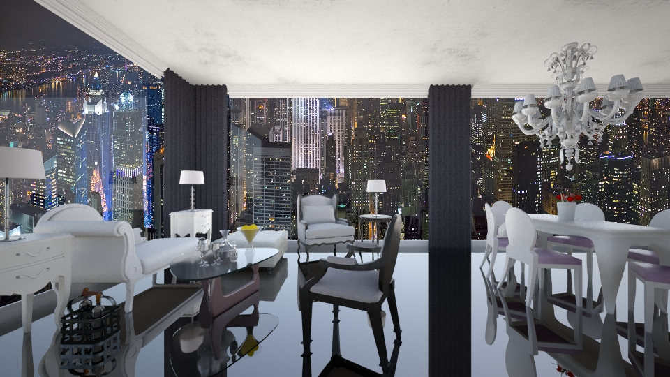 apartment in New York - Glamour - Living room - by GosiaT