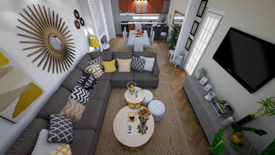 gray white cream gold  - Modern - Living room - by Smiljka Kostic