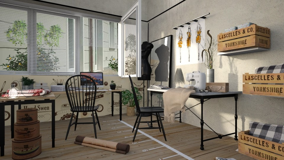 Sewing Room - by ariema
