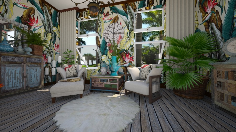 Tropical time out - Living room - by Lackew