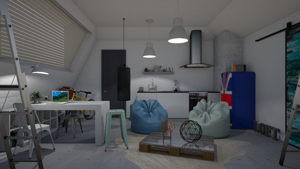Students loft - Modern - Living room - by Annathea