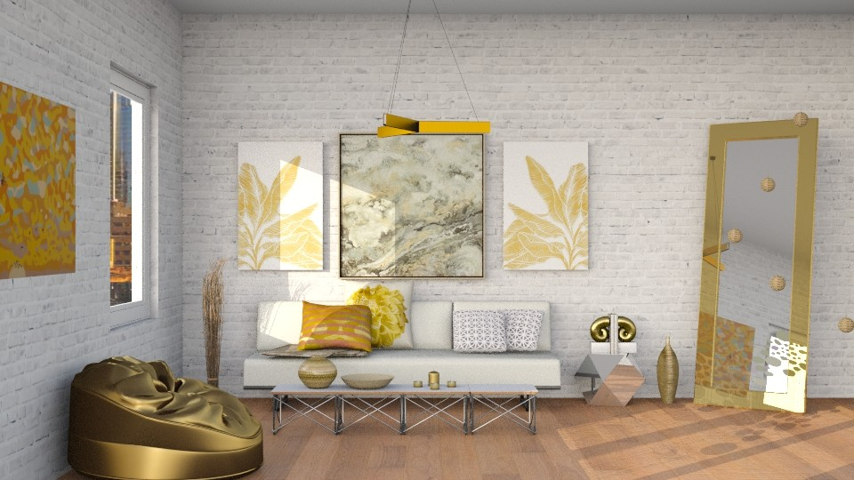 gilding the lily - Living room - by laughterlines